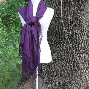 Gorgeous Purple Pashmina Scarf